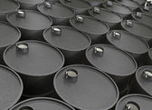 Barrels of oil — Stock Photo