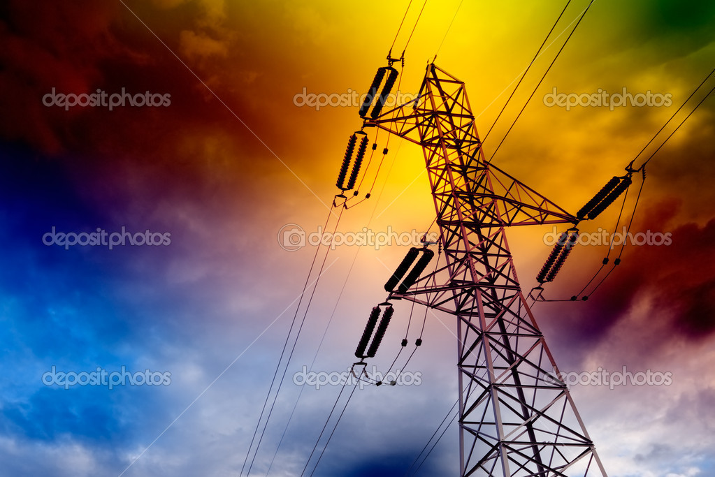 Electrical transmission tower landscape.Energy concept — Stock Photo #5303039