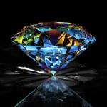 Diamond on black background — Stock Photo