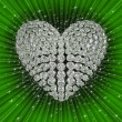 Stock Photo: Diamond's heart