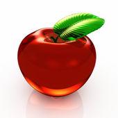 3d mela rossa — Foto Stock