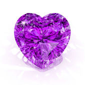 Diamond purple heart shape — Stock Photo