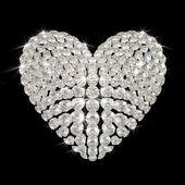 Diamond's heart — Zdjęcie stockowe