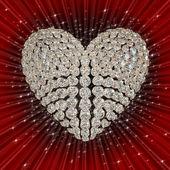 Diamond's heart — Stock Photo