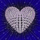 Diamond's heart — Stock Photo