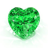 Heart shape emerald — Stock Photo
