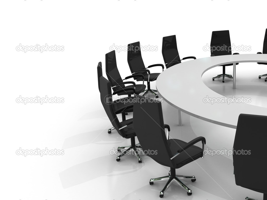 Download - Conference table and chairs — Stock Image #3930489