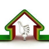 Dom energia. koncepcja oszczędności energii — Zdjęcie stockowe