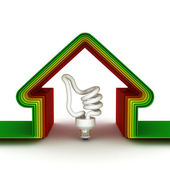 Energi hus. energisparande koncept — Stockfoto