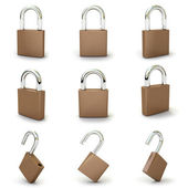Set with padlocks — Stock Photo