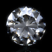 Diamond stone on black space — Stock Photo