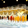 Filled stemware — Stock Photo