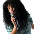 Stock Photo: Lyric singer