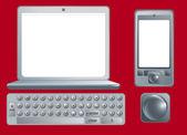 Dispositivi elettronici — Vettoriale Stock