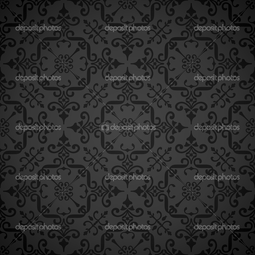Elegant vintage-style wallpaper pattern. Great as background. Vector illustration; tiles seamlessly.  Stock Vector #3944889