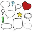 Comics-style speech bubbles / balloons - Stockvectorbeeld