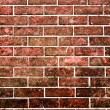 Red brick stone wall in grunge style — Stock Photo