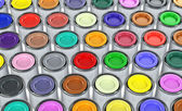 Color tins — Stock Photo
