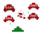 Derribar los costos — Foto de Stock