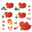 Stock Vector: Set of Valentine icons