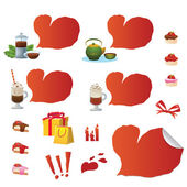 Set of Valentine icons — Stock Vector
