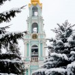 Bell tower. Lavra. Sergiev Posad. Russia - Stock Photo