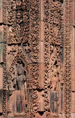 Banteay Srei Temple- Angkor Wat Ruins, Cambodia — Stock Photo