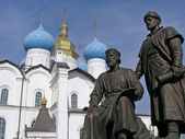 The Monument To Architects Of Kazan Kremlin — Stock Photo