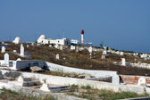 Cemetery and lighthouse — Stock Photo