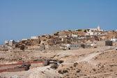 Troglodytic village in the Sahara desert — Stock Photo