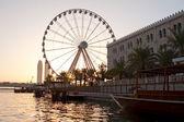 Tranquil City adn Ferris wheel — Stock Photo