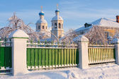 Russische ortodox kerk. — Stockfoto