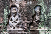 Bas-relief In preah khan — Stock Photo