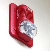 пожарная сигнализация на стене — Стоковое фото