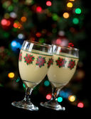 Eggnog and Holiday Lights — Zdjęcie stockowe