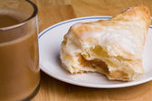 Coffee and Turnover — Stock Photo