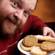 Stock Photo: Man with Cookie