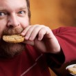 Man with Cookie — Stock Photo #4773166
