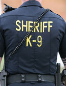 Sheriff k-9 eenheid — Stockfoto