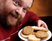 Man with Cookie — Stock Photo