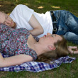 Couple in Park — Stockfoto #4967695