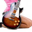 Stock Photo: Beautiful girl with a guitar