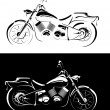 Stock Vector: Motobike is isolated on white and black background