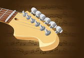 Electric guitar neck — Stock Vector