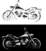 Motobike is isolated on white and black background — Stock Vector