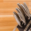 Series of images of kitchen ware. Knife set — Stock Photo #3995928