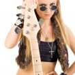 Royalty-Free Stock Photo: Beautiful blonde with a guitar