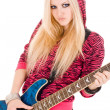 Stock Photo: Beautiful blonde with guitar