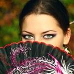 Japanese Girl in a Kimono — Stock Photo #3996831