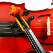 Violins isolated on a white background - Stock Photo